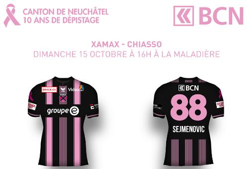 Xamax FCS en Rose et Noir