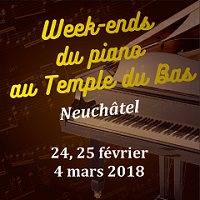 Week-ends du piano au Temple du Bas 2018