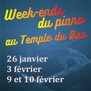 "Concert ""Week-ends du piano au Temple du Bas"""