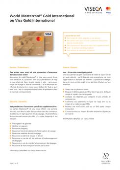 Vignette brochure Carte MC/Visa Gold EUR/USD