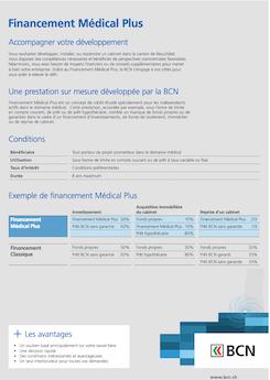 Vignette brochure Financement Médical Plus