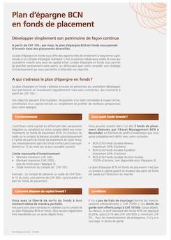 Vignette brochure Plan d'épargne en fonds de placement