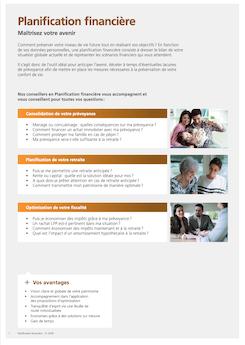 Vignette brochure Planification financière
