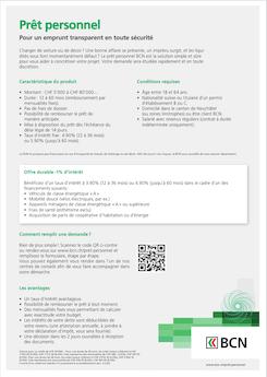 Vignette brochure Prêt Personnel BCN